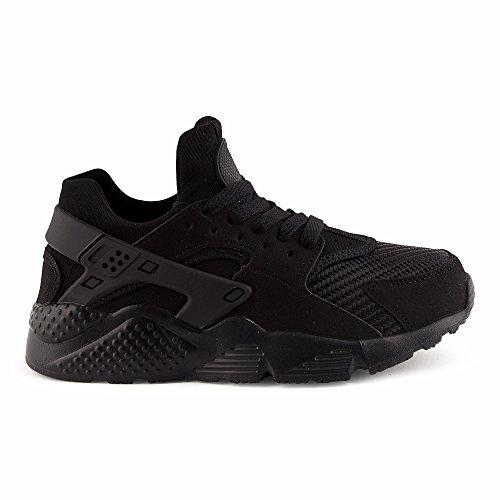 Top FiveSix Textilschuhe Damen Sportschuhe Laufschuhe Schnürschuhe Freizeitschuhe Sneaker Low Schwarz Schuhe qr87qx6n