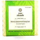 Raw Rituals Mint & Spearmint Cold Process Oil Body Bar - 100 gms