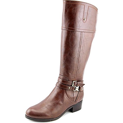 Unisa Tereza Wide Calf Rund Kunstleder Mode-Knie hoch Stiefel Brown Multi