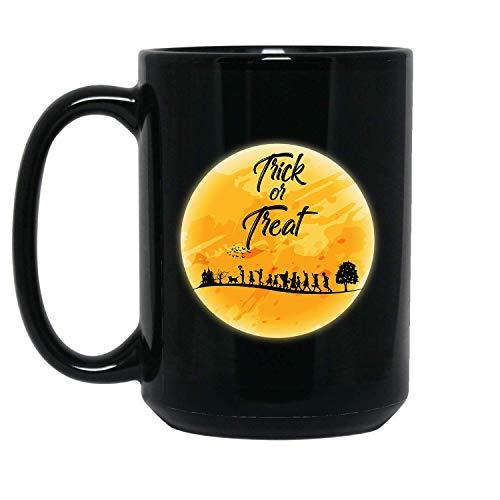 Trick Or Treat Best Halloween, Gift For Halloween Lover - 11 oz Black Coffee Tea Mug By Mirasuper