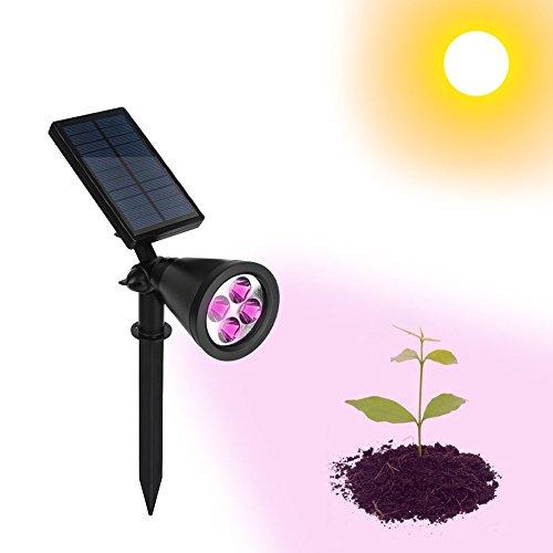 PROKTH Solar-Strahler, Solar Pflanzenlampe Licht, Solar Spike Underground Lampe Outdoor Sicherheit Licht