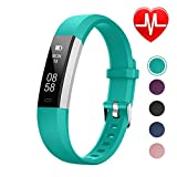 LETSCOM Unisex's ID115UHR Fitness Heart Rate, Smart Activity Tracker, Pedometer Watch with Step