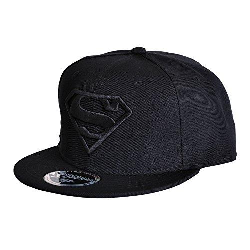 DC Comics Superman Casquette de baseball avec logo noir