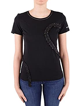PATRIZIA PEPE T-Shirt in Cotone con Ruches 1M3859