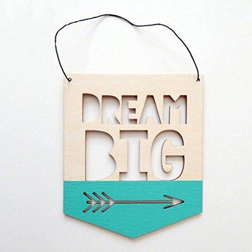 Holz Buchstabe Design Shield Wandbehang Ornament Fotografie Decor C (Halloween-zeichen-ideen)