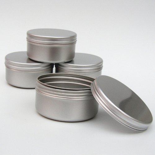 Contenitori alluminio da 100ml per cosmetici candele dolcetti