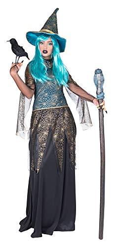 Hexe Petrol Persia Kostüm für Damen - Lang Gr. 48/50