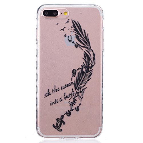 Sunroyal Hülle für iPhone 7 Plus (5.5 inches) Silicone Case Cover, Scratch-resistant Ultra Slim TPU Case Cover Soft Protective with Pattern Design Transparent Soft silicone Cover Pattern 04
