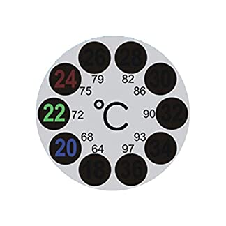 JSG Accessories® LCD Round Aquarium Thermometer Sticks On Fish Tank Window Weather Station Indoor Outdoor 10