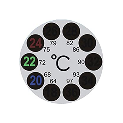 JSG Accessories® LCD Round Aquarium Thermometer Sticks On Fish Tank Window Weather Station Indoor Outdoor 1