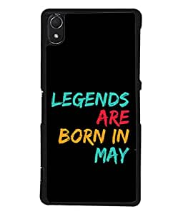 PrintVisa Designer Back Case Cover for Sony Xperia Z3 :: Sony Xperia Z3 Dual D6603 :: Sony Xperia Z3 D6633 (Spritual Motivation Word Theme Atitude Month May)