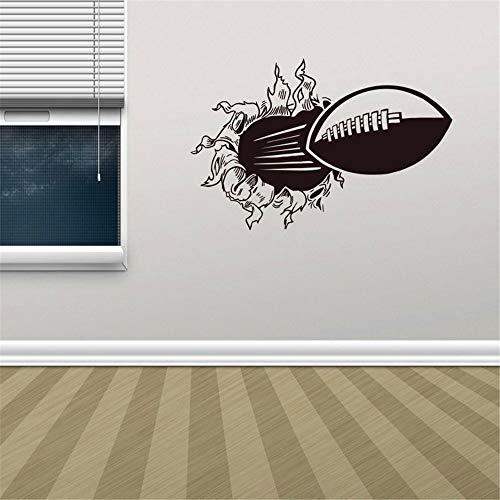 JLSMGS-football Adesivi murali in 3D per bambini Gli adesivi decorativi per camerette per bambini possono essere rimossi/adesivo murale cameretta/adesivo murale calcio
