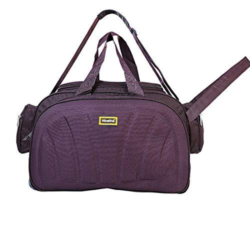 Nice Line Purple Polyester 40 litres Inch Travel Duffle Bag Trolley Bag Cabin  Luggage (Sada Purple) ed5713de63
