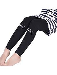 0cb672e54779d LPATTERN Fille Legging Stretch Collants Taille Élastique Legging de Sport Pantalon  Thermique
