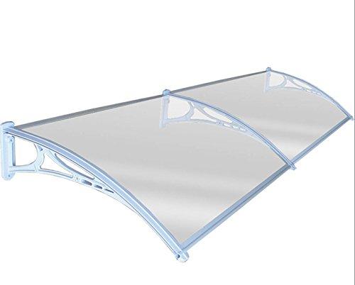 Preisvergleich Produktbild j-living Tür Sonnensegel Vorder- und Rückseite Tür Vordach Polycarbonat 80x 240cm modern weiß