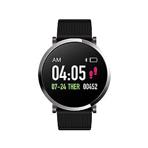 FANPING Aptitud Pulsera Impermeable rastreador de Ejercicios Pulsera de los Deportes de la Aptitud del Reloj Control de Actividad con el podómetro for teléfonos Inteligentes Android, Pantalla Ronda 3