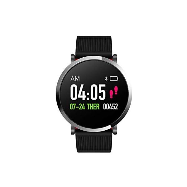 FANPING Aptitud Pulsera Impermeable rastreador de Ejercicios Pulsera de los Deportes de la Aptitud del Reloj Control de Actividad con el podómetro for teléfonos Inteligentes Android, Pantalla Ronda 1