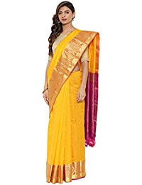 CLASSICATE From the house of The Chennai Silks Traditional Silk Saree With Baluchari Border (CCMYSS10378 - Zinna Orange)