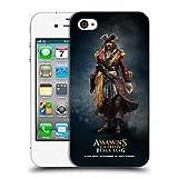 Head Case Designs Offizielle Assassin's Creed Bartholomew Roberts Schwarze Fahne Darsteller Ruckseite Hülle für iPhone 4 / iPhone 4S
