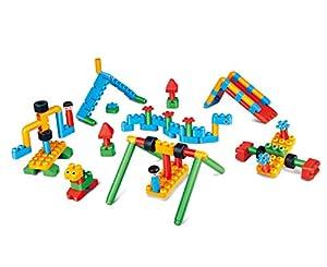 PolyM 760011Aventura Parte Espacio Niños Pequeños de Juguete, Flexible y rundkantige Ladrillos