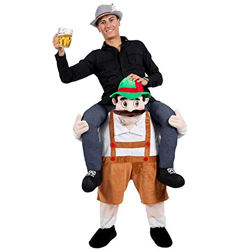 BAINASIQI Beer Guy Carry Me Mascot Costume Oktoberfest Karnevals Party Lustig Fancy Dress Kostüme für Erwachsene (Dress Kinder Lustige Fancy)