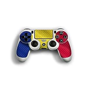 """Sony Playstation 4 Controller Designfolie """"Rumänien Flagge"""" Skin Aufkleber für Playstation 4 Controller (PS4)"""
