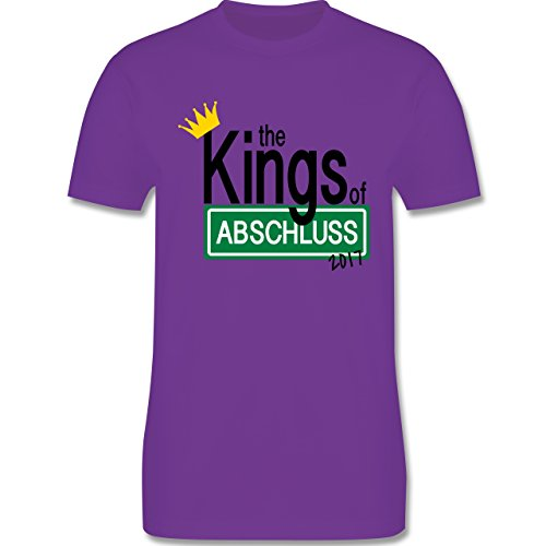 Abi & Abschluss - The Kings of Abschluss 2017 - Herren Premium T-Shirt Lila