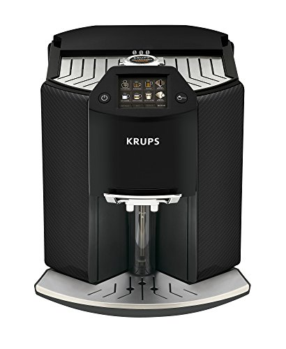 Krups Kaffeevollautomat Barista New Age One-Touch-Cappuccino, farbiges Touchscreen Display 1.6 liters, Carbon