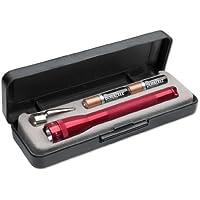 Mag-Lite LED Mini AAA Taschenlampe, 84 Lumen, 12.5 cm inklusive 2 Micro-Batterien und Taschenclip, rot, P32DR2E