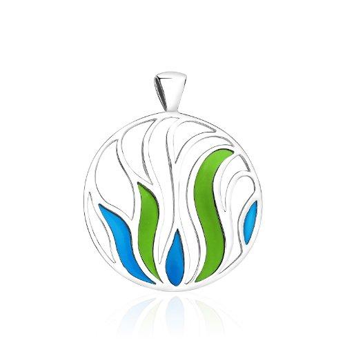 simple-mais-splendid-en-argent-sterling-925-avec-email-et-verte-bleu-longue-chaine-avec-pendentif-ou