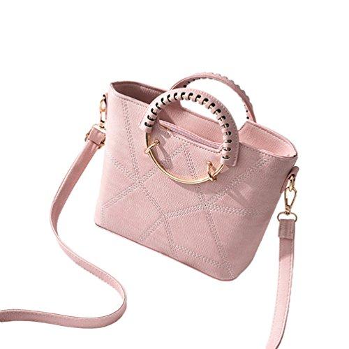 Baymate Casual Borsa Messenger Bag Donna Elegante Borsa Tracolla Borse a Mano Pink