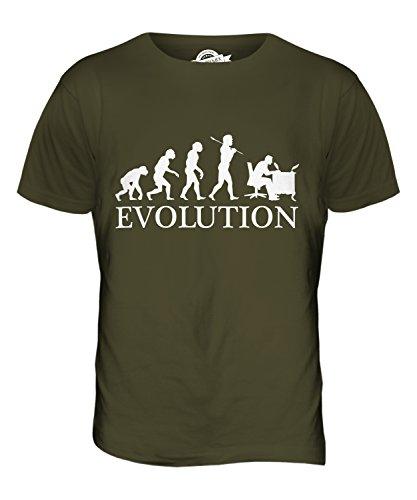 CandyMix Kalligrafie Evolution Des Menschen Herren T Shirt Khaki Grün