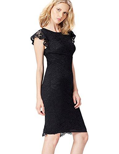 FIND 13576 vestiti da sera donna eleganti, Nero (Black), 42 (Taglia Produttore: Small)