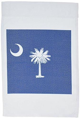 3dRose FL 158433_ 1Flagge von South Carolina sc-us American United State of America USA weiß Palmetto Tree Indigo Blau Garten Flagge, 12von 18 - Carolina Flagge T-shirt