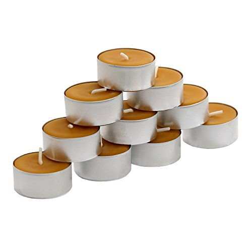 Natural Pure Beeswax Beeswax Tealights Made From 100% Pure Beeswax With Signature...