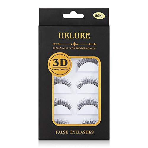 905b16740d7 False Eyelashes,URLURE 5 Pairs Natural Handmade 3D Fake Eyelashes  Light-weight and Soft