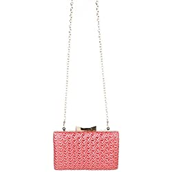 Abendtasche Clutch Coral Rot