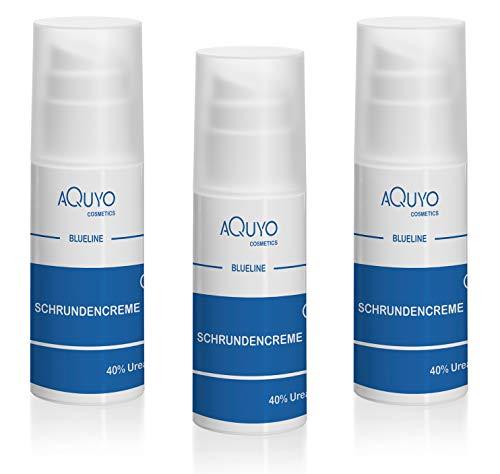 Blueline Schrundencreme 40% Urea, Fußcreme zum Hornhaut entfernen, Creme für rissige Fersen und Füße, zur Behandlung von Schrunden (Rhagaden) an Händen, Ellenbogen oder Füßen (3er Pack - 3x 100ml)