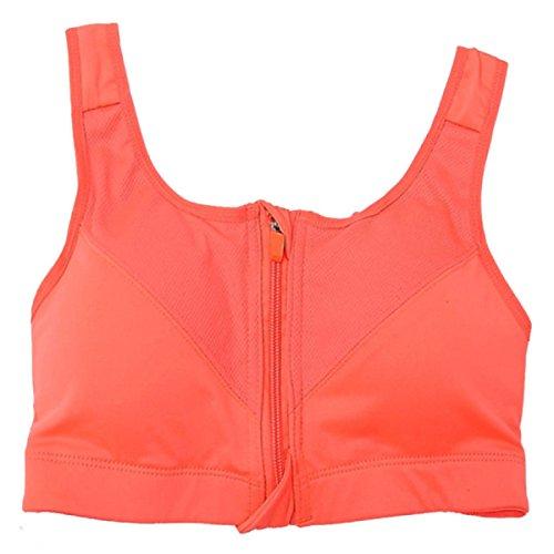 Shorts De Soutien-gorge De Sport Professionnel Sans Jantes Ouvertes Sous-vêtements Zip Orange