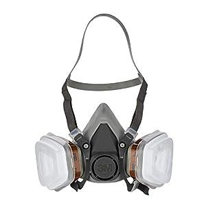 3M Mehrweg-Halbmaske 6002C - Halbmaske mit Wechselfiltern gegen organische Gase, Dämpfe & Partikel - Für Farbspritz- und Maschinenschleifarbeiten