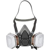 3M 6002C1 - Mascarilla respiradora reutilizable para pintura/químicos color gris