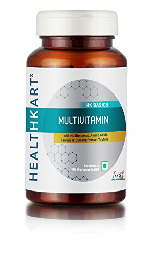 HealthKart Multivitamin with Ginseng Extract - 60 Vegetarian Tablets