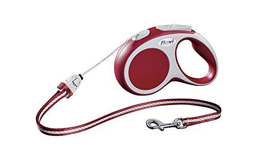 flexi Roll-Leine Vario S Seil 5 m rot für Hunde bis max. 12 kg