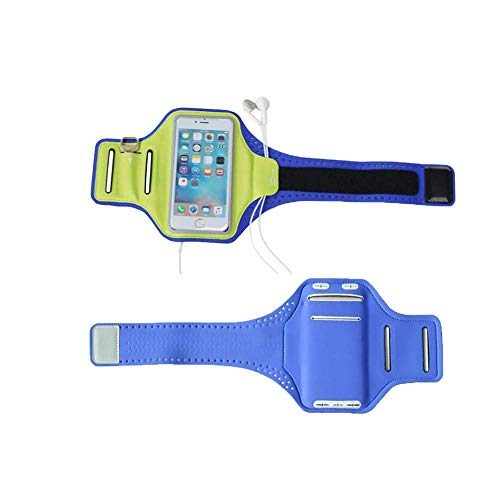 odowalker Sport Arm Band Strap Handy-Halterung Fall mit Schlüssel und Kartenschlitzen für iPhone 7/7plus iPhone 6 6S Plus 5S 5 C SE iPod Touch Samsung Galaxy S7 S6 S5 (Speck Ipod 5 Fällen,)
