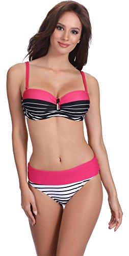 Feba Figurformender Damen Bikini S2L2N1 (Muster-405, Cup 80 G/Unterteil 40)