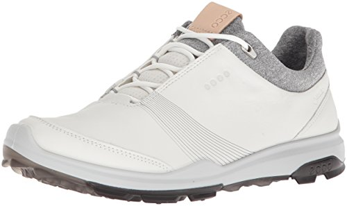 Ecco Women Golf Biom Hybrid 3, Chaussures Femme, Blanc (White/Black 51227), 41 EU