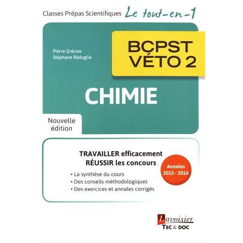 Chimie BCPST-Véto 2e année
