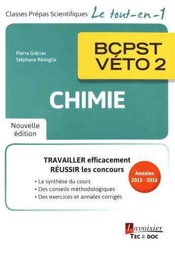 Chimie BCPST-Vto 2e anne