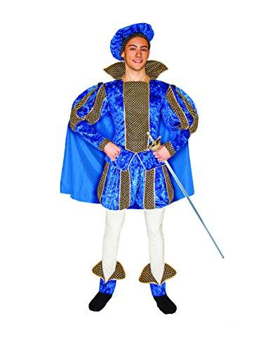 Ciao 16422 - Principe Azzurro, Taglia L, Blu/Oro/Bianco