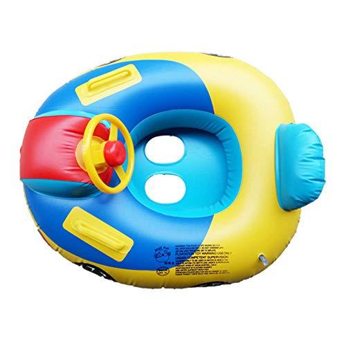 Baby Pool Schwimmt, Baby Schwimmring Aufblasbarer Sitz Boot Float Auto Form Mit Lenkrad Für Kinder Schwimmen Spielzeug Trainer Sitz Für 6-36 Monate (Boot Float Spielzeug,)